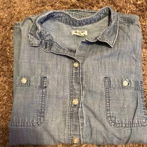 Old Navy denim chambray button up